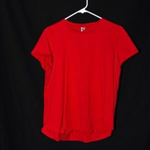 Red Short Sleeve Red Top